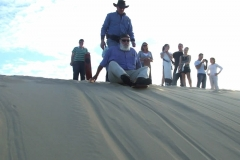 Sandboarding for young and old