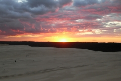 Sunsets and sunrises on Stockton sand dunes
